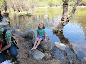 Photo: Fianna playing near Mirror Lake at Yosemite, Easter 2014