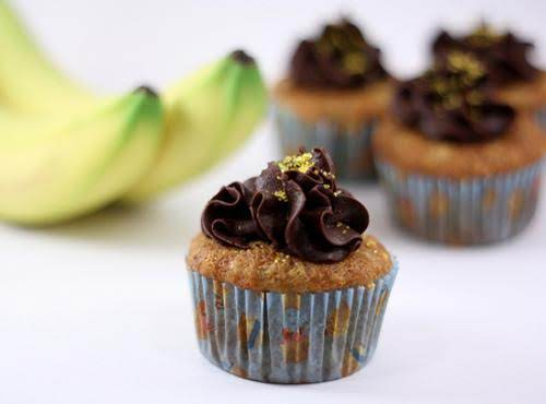 Roasted Banana Cupcakes Recipe