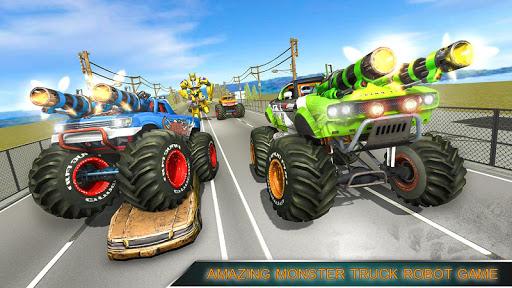 Monster Truck Racing Games: Transform Robot games 1.0.1 screenshots 2