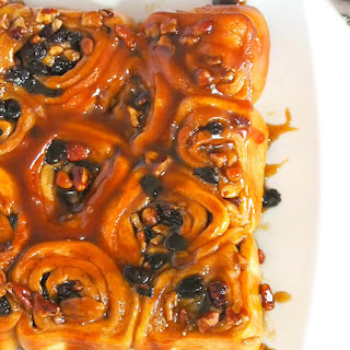 Sticky Buns with Pecans and Rum Raisins Recipe