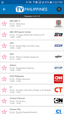 TV Philippines Free TV Listing - screenshot