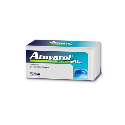 Atorvastatina Atovarol 20 mg x 30 Cápsulas Vivax 20 mg x 30 Cápsulas