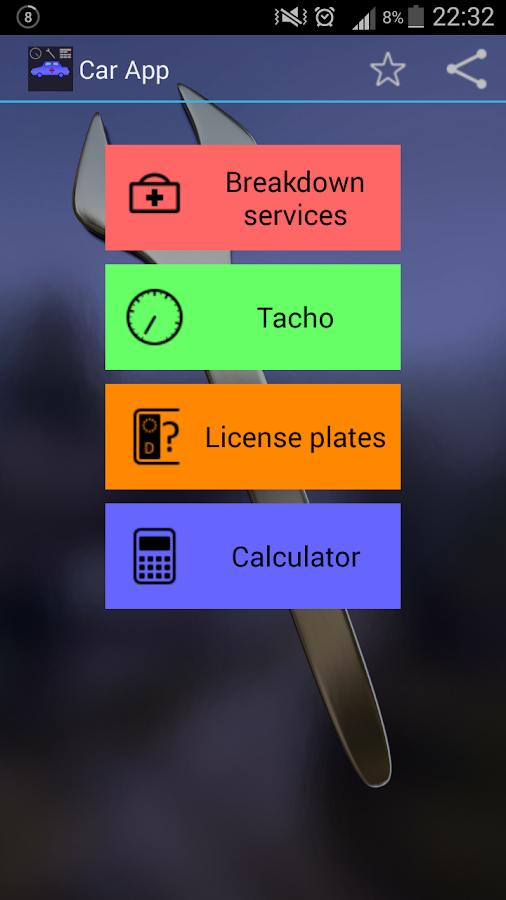 Car app- screenshot