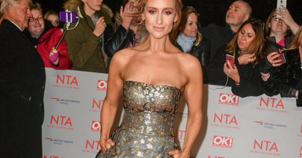 Catherine Tyldesley erects Christmas tree 41 days before big day