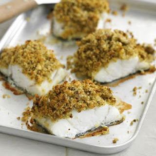 Pesto & Olive-Crusted Fish Recipe