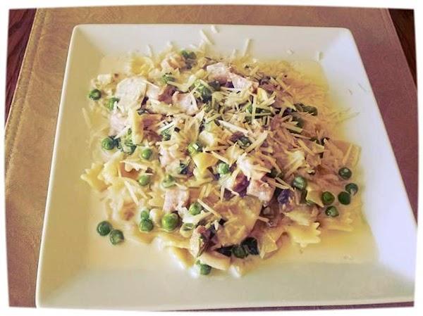Pasta With Ham And Veggie Cream Sauce Recipe
