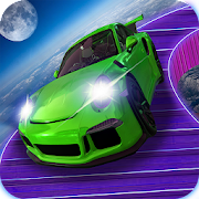 Perfect space stunts car driving