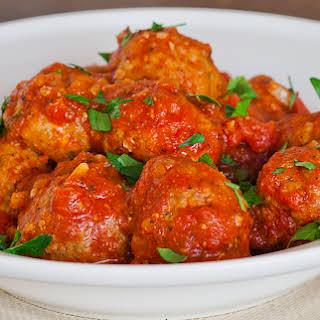 Italian Meatballs with Marinara Sauce.