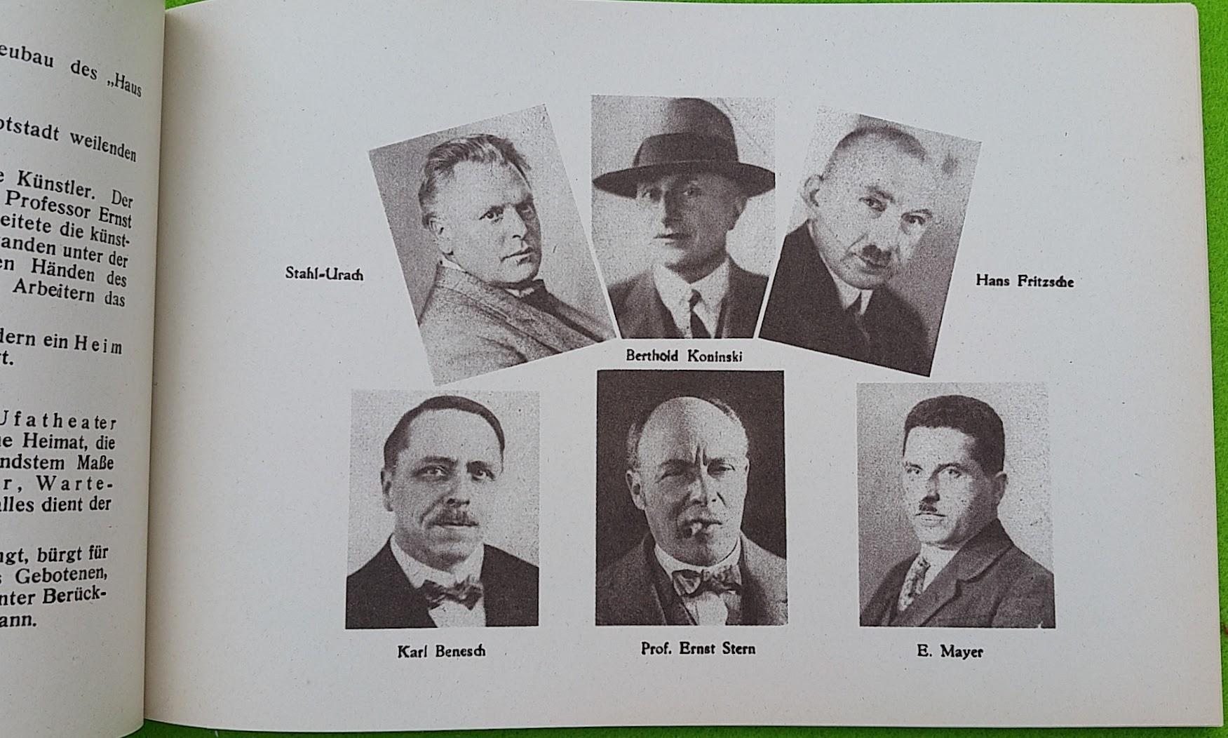 Begleitheft zur Eröffnung von Haus Vaterland am Potsdamer Platz, Berlin, 31. August 1928 - Architekten und Planer