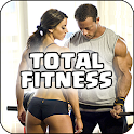 Fitness videos mujeres hombres icon