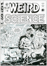 Photo: WEIRD SCIENCE #32 COVER. 2013. Ink on bristol board, 13 × 19″.