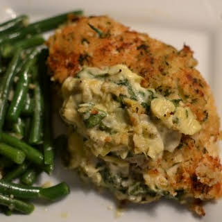 Artichoke Stuffed Chicken Breast.