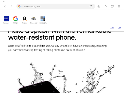 Samsung Internet Browser Screenshot