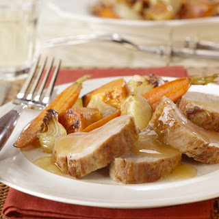 Roasted Pork Tenderloin with Apple-Ginger Sauce.