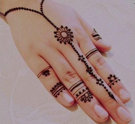 Gambar Henna Di Tangan Yang Mudah Ditiru