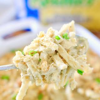 Creamy Italian Chicken Noodle Casserole.