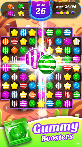 Gummy Candy Blast - Free Match 3 Puzzle Game screenshot 2