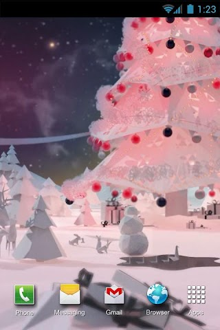 android Low-poly winter Live Wallpaper Screenshot 0