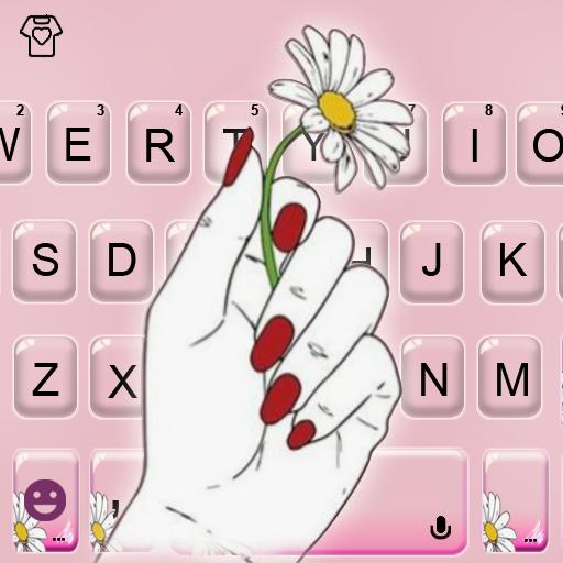 Daisy Hand Keyboard Theme Icon
