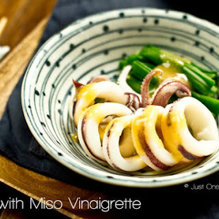 Boiled Squid with Miso Vinaigrette