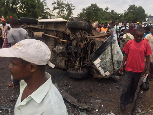 Five dead including an infant in an accident at Mavueni