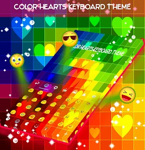 Color Hearts Keyboard Theme - náhled