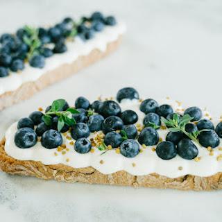 Whipped Blueberry Honey Ricotta Toast.