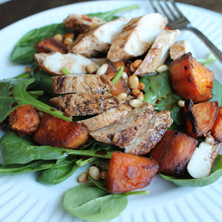 Balsamic Chicken and Sweet Potato Salad.