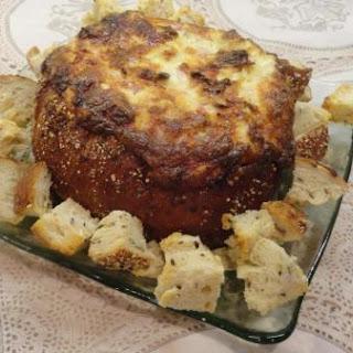 Ham and Swiss Hot Bread Bowl Dip.