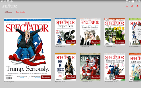 The Spectator Magazine Screenshot