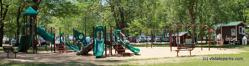 Photo: Playground panorama at Sand Bar State Park by Meghan Lynch