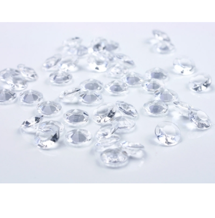 Dekorationsdiamanter - Klar