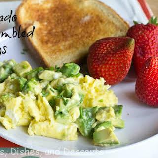 Avocado Scrambled Eggs.