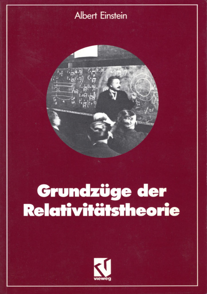 Theory of Relativity in German by Albert Einstein.
