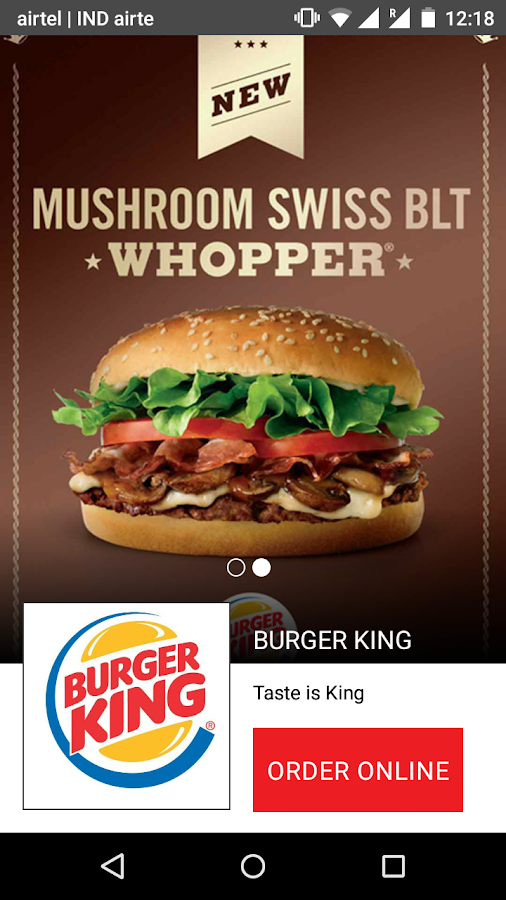 Burger king coupons india