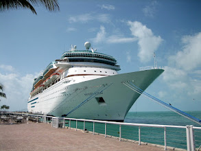 Photo: A cruise ship at Key West harbor