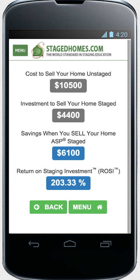 Home Staging Calculator- screenshot