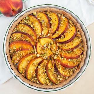 Peach and pistachio tart #SundaySupper