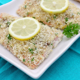 Panko Crusted Honey Mustard Salmon.