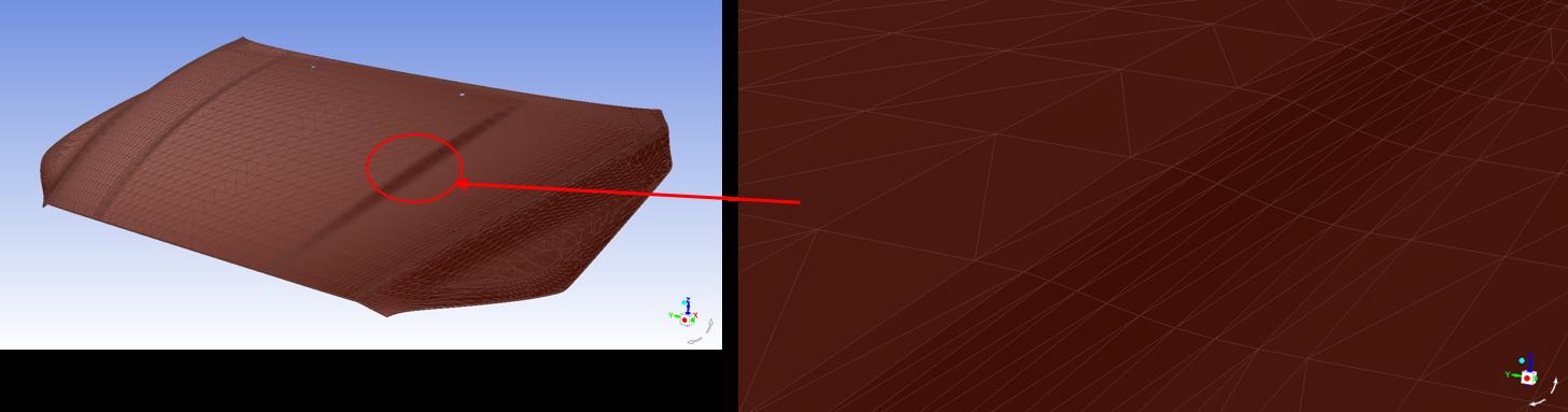 Автоматическое построение сетки с помощью скриптов существенно уменьшило время подготовки данной модели капота автомобиля (изображение предоставлено Volvo)