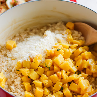 Butternut Squash Risotto with Sage and Crispy Pancetta.