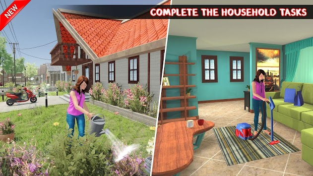 Virtual Mother Home Chef Family Simulator