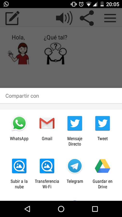 Araword: captura de pantalla