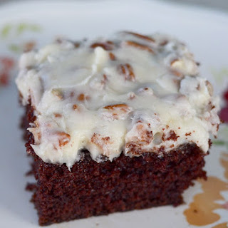 Grandma's Prize Winning Chocolate Cake with Pecan Cream Cheese Icing!