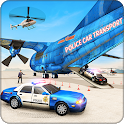 Police Car Transporter Plane: Car Driving Games icon