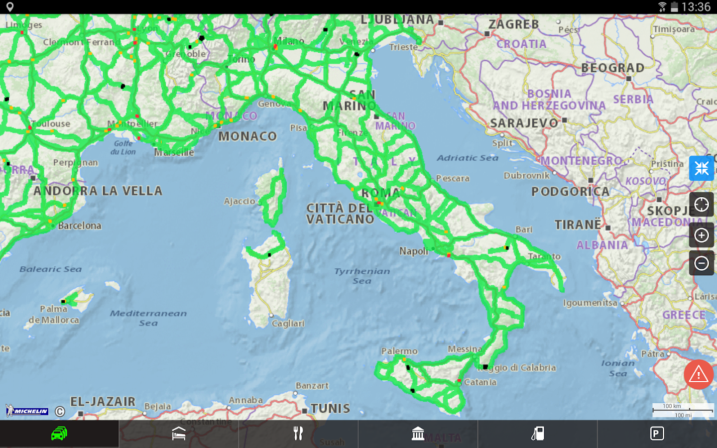 ViaMichelin: Iti GPS Traffico- screenshot