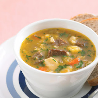 Chunky Beef and Vegetable Soup.