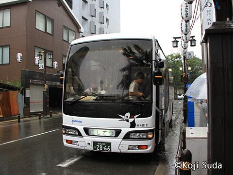 西鉄 4012 櫛田神社到着