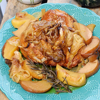 Crockpot Pork Roast with Apples & Onions.