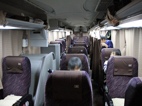 九州産交バス「不知火号」 1011 車内